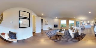 3d illustration spherical 360 degrees, seamless panorama of a house Royalty Free Stock Photo