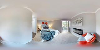 3d illustration spherical 360 degrees, a seamless panorama of master bedroom. 3d illustration spherical 360 degrees, a seamless panorama of luxury bedroom with stock images