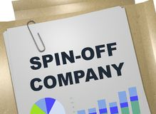 SPIN-OFF COMPANY concept. 3D illustration of SPIN-OFF COMPANY title on business document Stock Images