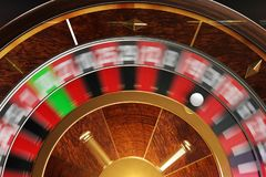 Good luck. 3D illustration of spinning roulette view from above Royalty Free Stock Photos