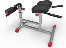 3d illustration of sport tool in gym. Stock Images