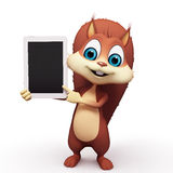 Squirrel with ipad Royalty Free Stock Photo