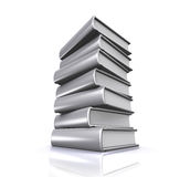 3D illustration of Stack of books. Royalty Free Stock Photography