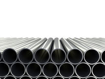 3d illustration of a stack of pipes isolated on white Royalty Free Stock Photography