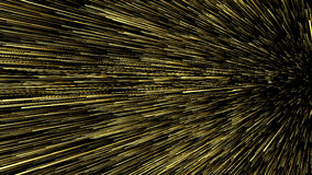 3D illustration of star trails at universe. On black background Stock Photography