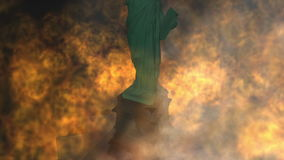 3D Illustration of the Statue of Liberty stock footage