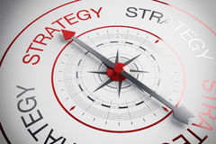 3d illustration Strategy compass Royalty Free Stock Photo