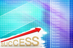 3d illustration of a Success Graph Stock Image