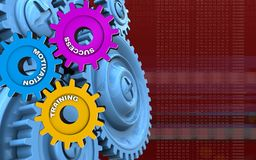 3d blue gears Stock Images