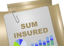 Sum Insured concept Royalty Free Stock Photos
