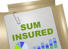 Sum Insured concept Stock Photo