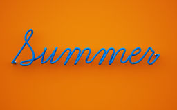 3d Illustration of the summer text. Royalty Free Stock Images