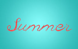 3D Illustration of Summer Text Royalty Free Stock Images