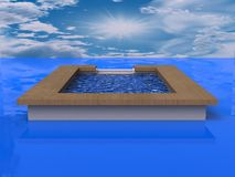 3D Illustration of a Swimming Pool Royalty Free Stock Photo