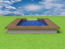 3D Illustration of a Swimming Pool Stock Photography