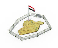 3d illustration of Syria map isolated on white Stock Photos