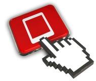 Tab Icon. 3D illustration of Tab Icon - Hand Cursor Click Stock Photo
