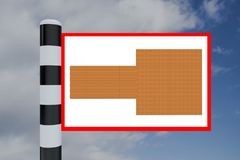 Tactile Paving concept. 3D illustration of tactile paving on a road sign Stock Images