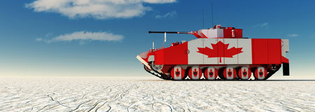3d illustration of tank painted Stock Photography
