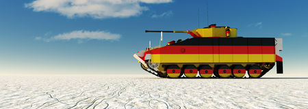 3d illustration of tank painted Royalty Free Stock Photo