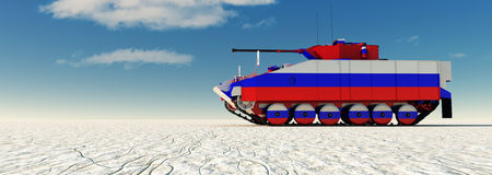 3d illustration of tank painted Royalty Free Stock Image