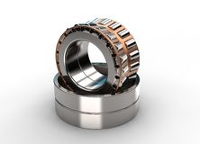 3D illustration of tapered roller bearing Royalty Free Stock Images