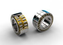 3D illustration of tapered roller bearing Stock Photo