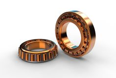 3D illustration of tapered roller bearing Royalty Free Stock Photo