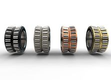 3D illustration of tapered roller bearings. On white Royalty Free Stock Photography