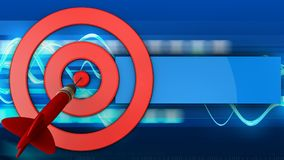 3d target circles with dart Royalty Free Stock Photography