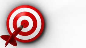3d target with dart. 3d illustration of target with dart over white background Stock Images