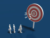 3D illustration of target. Royalty Free Stock Images