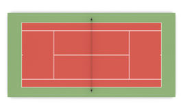 3d illustration tennis court front view Stock Image