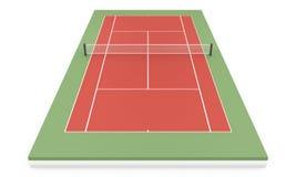3d illustration tennis court Stock Images