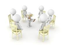 3D illustration of therapist helping patients of twelve step hel Stock Photo