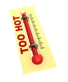 Thermometer with hot temperature Stock Photography