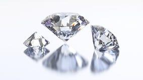3D illustration three diamond stone Royalty Free Stock Photography