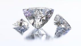 3D illustration three trillion curved diamond stone Royalty Free Stock Photo