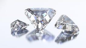 3D illustration three trillion straight diamond stone Royalty Free Stock Image