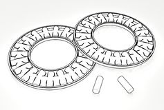 3d illustration of thrust needle bearings. On white Stock Image