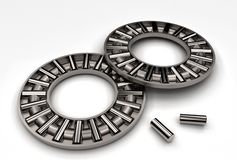 3d illustration of thrust needle bearings. On white Stock Photos