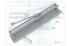 3D illustration of tile cutter Royalty Free Stock Photos