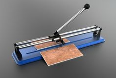 3D illustration of tile cutter Stock Photos