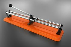 3D illustration of tile cutter Royalty Free Stock Photography