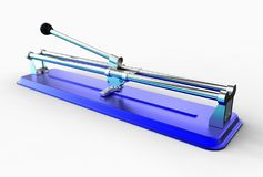 3D illustration of tile cutter Royalty Free Stock Images