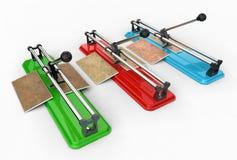 3D illustration of tile cutter Stock Image
