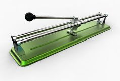 3D illustration of tile cutter Stock Images