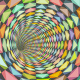 Illustration tiled tunnel in multiple happy color Royalty Free Stock Photos