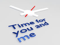 Time for you and me concept Royalty Free Stock Image