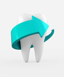 3D illustration of tooth protection and whitening. Royalty Free Stock Images